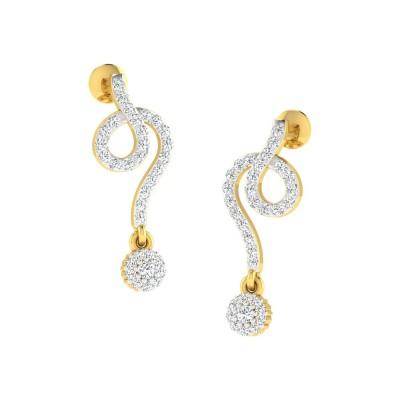 INGA DIAMOND DROPS EARRINGS in 18K Gold