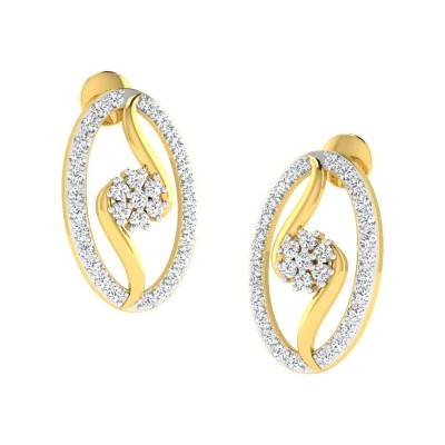 EARLIE DIAMOND STUDS EARRINGS in 18K Gold