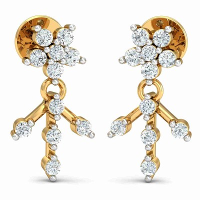 ELOIS DIAMOND DROPS EARRINGS in 18K Gold