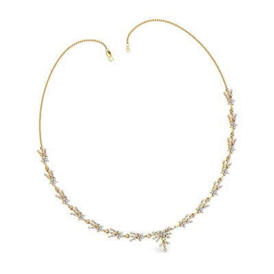 LAVINIA DIAMOND  NECKLACE in 18K Gold