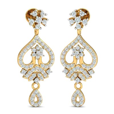CAROLYNN DIAMOND DROPS EARRINGS in 18K Gold