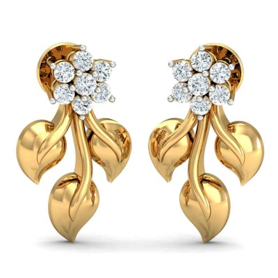 LASHAWN DIAMOND DROPS EARRINGS in 18K Gold