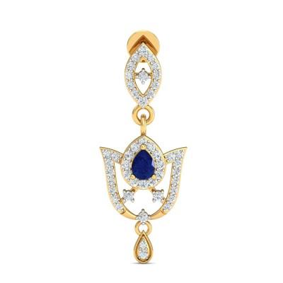 VERNIE DIAMOND DROPS EARRINGS in Sapphire & 18K Gold