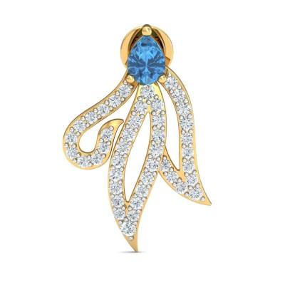 JANAY DIAMOND DROPS EARRINGS in Sapphire & 18K Gold