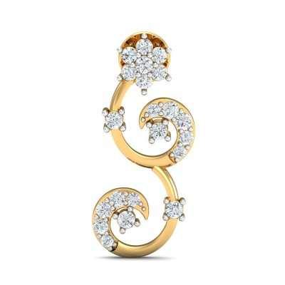 JULIA DIAMOND DROPS EARRINGS in 18K Gold