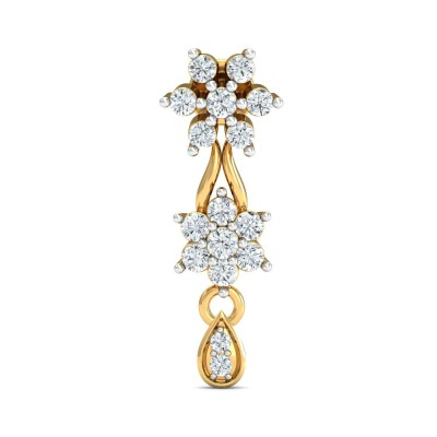 EVE DIAMOND DROPS EARRINGS in 18K Gold