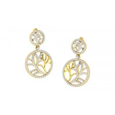 CORNELIA DIAMOND DROPS EARRINGS in 18K Gold