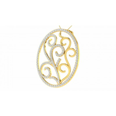 SHELLY DIAMOND FASHION PENDANT in 18K Gold