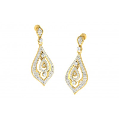 JULEE DIAMOND DROPS EARRINGS in 18K Gold