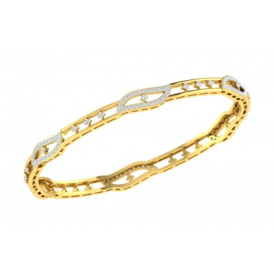 FRIEDA DIAMOND  BANGLE in 18K Gold