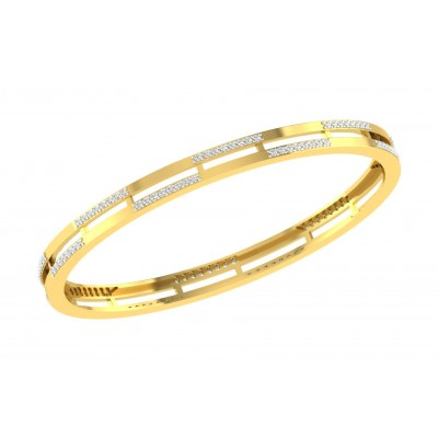 MENDY DIAMOND  BANGLE in 18K Gold