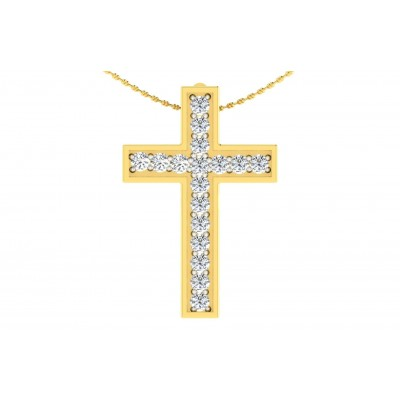 MAHADEVI DIAMOND RELIGIOUS PENDANT in 18K Gold