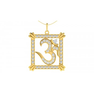 BHUVANA DIAMOND RELIGIOUS PENDANT in 18K Gold