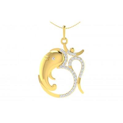 GAMBHIRI DIAMOND RELIGIOUS PENDANT in 18K Gold
