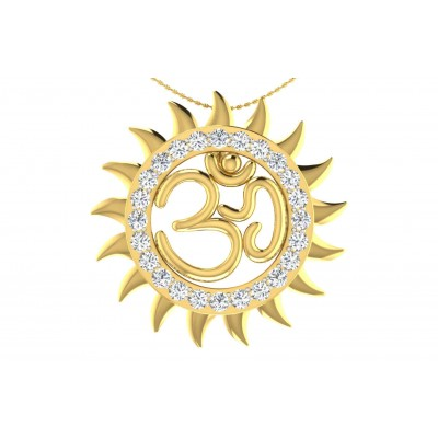 SHYLA DIAMOND RELIGIOUS PENDANT in 18K Gold