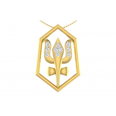 AJAYA DIAMOND RELIGIOUS PENDANT in 18K Gold