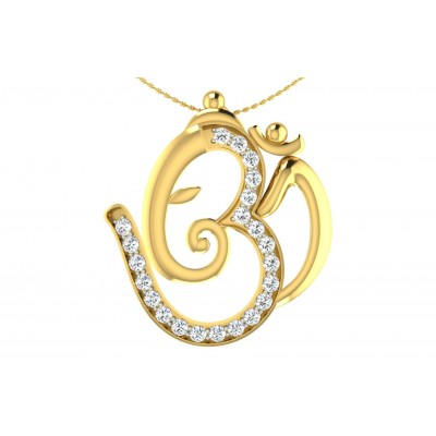 CHANNA DIAMOND RELIGIOUS PENDANT in 18K Gold
