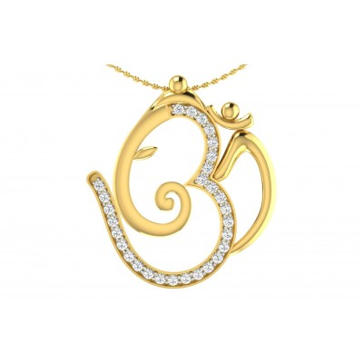 TARALA DIAMOND RELIGIOUS PENDANT in 18K Gold