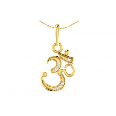 SAMVARTA DIAMOND RELIGIOUS PENDANT in 18K Gold
