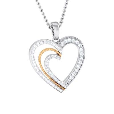 SONYA   DIAMOND HEARTS PENDANT in 18K Gold