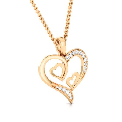 VASHTI   DIAMOND HEARTS PENDANT in 18K Gold