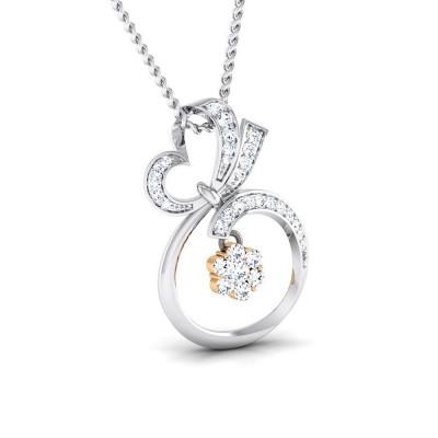 PHUNG   DIAMOND HEARTS PENDANT in 18K Gold
