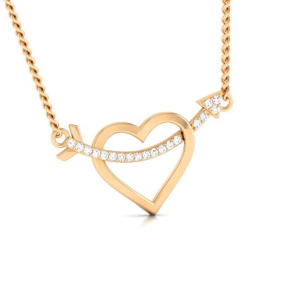 KELLE   DIAMOND HEARTS PENDANT in 18K Gold