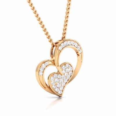 OZELLA   DIAMOND HEARTS PENDANT in 18K Gold