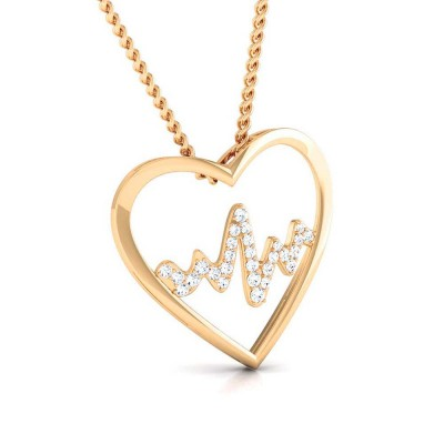 JUDIE   DIAMOND HEARTS PENDANT in 18K Gold