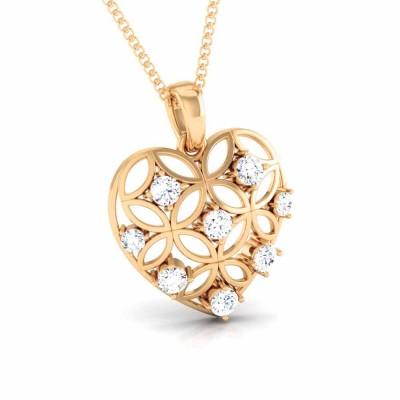 DEMETRIA   DIAMOND HEARTS PENDANT in 18K Gold