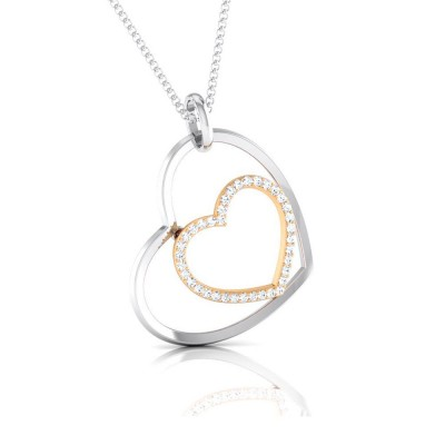 LYNELL   DIAMOND HEARTS PENDANT in 18K Gold