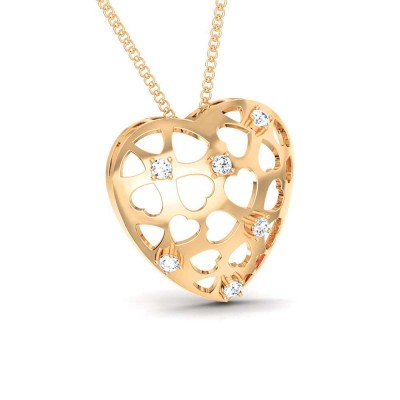 BONNY   DIAMOND HEARTS PENDANT in 18K Gold