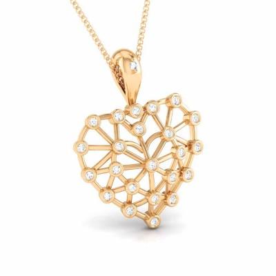 CARITA   DIAMOND HEARTS PENDANT in 18K Gold