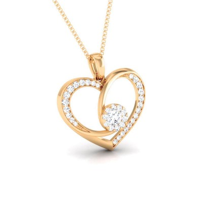 IMOGENE   DIAMOND HEARTS PENDANT in 18K Gold