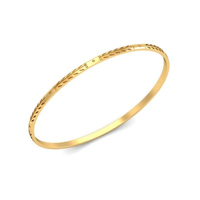 DIYA  BANGLE in 18K Gold
