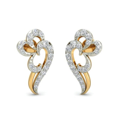 NITA DIAMOND STUDS EARRINGS in 18K Gold