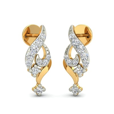 NAVYA DIAMOND STUDS EARRINGS in 18K Gold