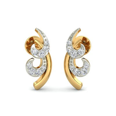 VANIA DIAMOND STUDS EARRINGS in 18K Gold