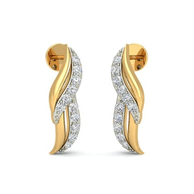REMI DIAMOND STUDS EARRINGS in 18K Gold