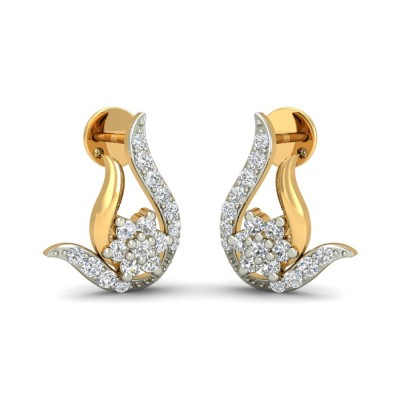 BHAVIKA DIAMOND STUDS EARRINGS in 18K Gold
