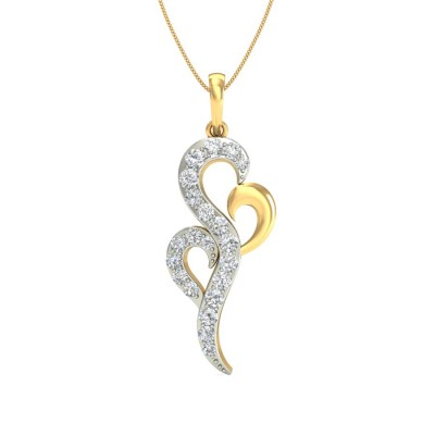 CAMILA DIAMOND FASHION PENDANT in 18K Gold