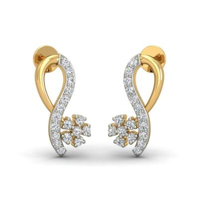 JORDAN DIAMOND STUDS EARRINGS in 18K Gold
