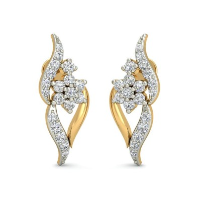 ANKAL DIAMOND STUDS EARRINGS in 18K Gold