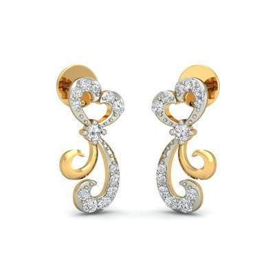 DANYA DIAMOND STUDS EARRINGS in 18K Gold