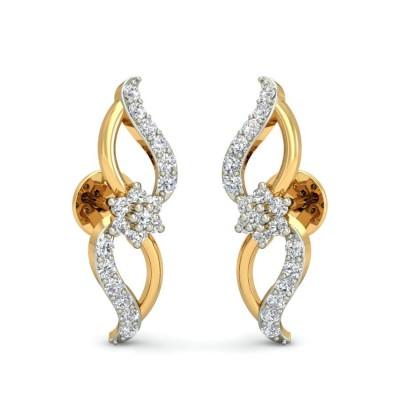 AVALYN DIAMOND STUDS EARRINGS in 18K Gold