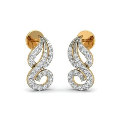 DAFNE DIAMOND STUDS EARRINGS in 18K Gold
