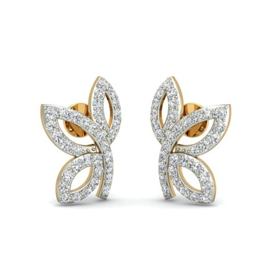 SACHI DIAMOND STUDS EARRINGS in 18K Gold