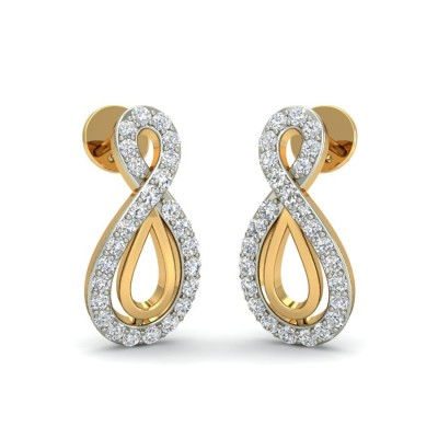 LAYA DIAMOND STUDS EARRINGS in 18K Gold