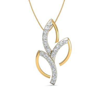 MANJARI DIAMOND FLORAL PENDANT in 18K Gold