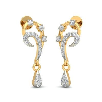 TANMAYA DIAMOND DROPS EARRINGS in 18K Gold